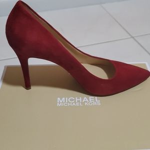 BRAND NEW - Cherry Red Suede Pumps